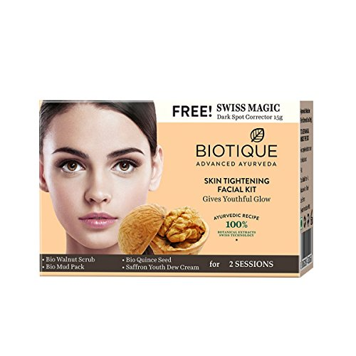 Biotique Bio Skin Tightening Facial Kit, Give Youthful Glow, 75g