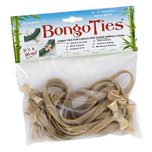 "BongoTies Allzweck-Krawatten 5"" L x .25"" W Bamboo and Natural Rubber"