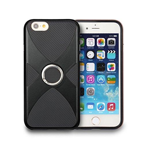 iPhone 6/6S Coque, Voguecase 2 in 1 TPU + PC [Anneau Series] avec Absorption de Choc, Etui Silicone Souple, Légère / Ajustement Parfait Coque Shell Housse Cover pour Apple iPhone 6/6S 4.7 (Or)+ Gratui Noir