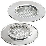 Homgaty Edelstahl-Abflusssieb für Badewanne / Waschbecken, Siebeinsatz für Dusche / Waschbecken, abflussschutz, 2 Stück