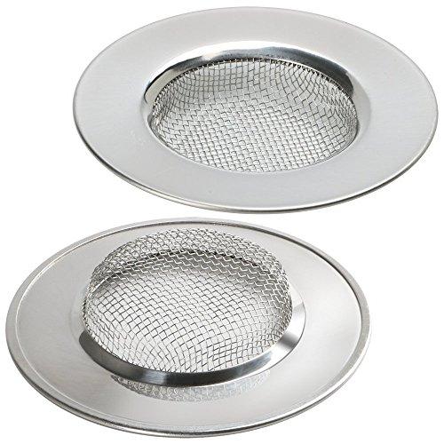 Homgaty Edelstahl-Abflusssieb für Badewanne / Waschbecken, Siebeinsatz für Dusche / Waschbecken, abflussschutz, 2 Stück (Sieb über Waschbecken)