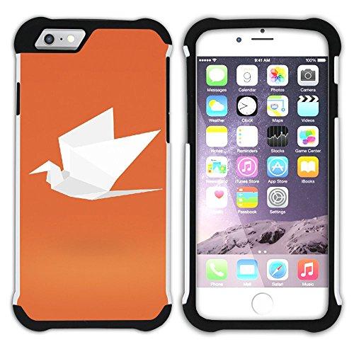 Graphic4You Papierflieger Hart + Weiche Kratzfeste Hülle Case Schale Tasche Schutzhülle für Apple iPhone 6 / 6S Design #15