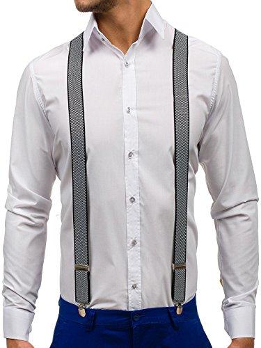 BOLF Hosenträger Herren Männer Hose Muster Clips Trendigen Design LAVII SZ03 Schwarz-Weiß [1L4] |