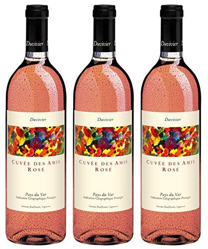 Bio Wein Château Duvivier Cuvée Des Amis Rosé Roséwein Cuvée Provence Süd Frankreich 2017 Trocken Vegan (3 x 0.75 l)