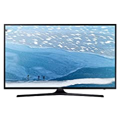 "Idea Regalo - Samsung Poll Flat UHD Serie KU6050 Smart TV da 55"", Nero"