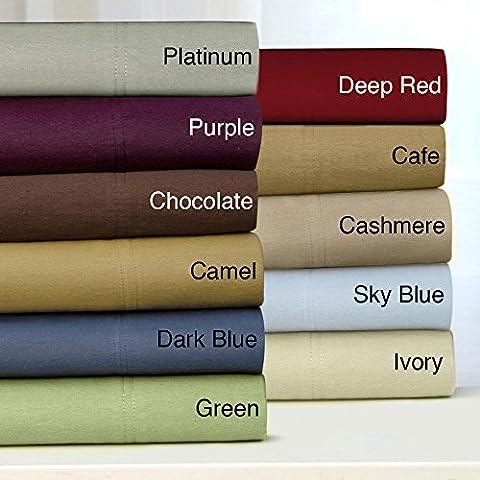 Cotone egiziano 5501x letto Gonna 14cm (35) Drop & strisce, tutte le dimensioni, Sage, East.King