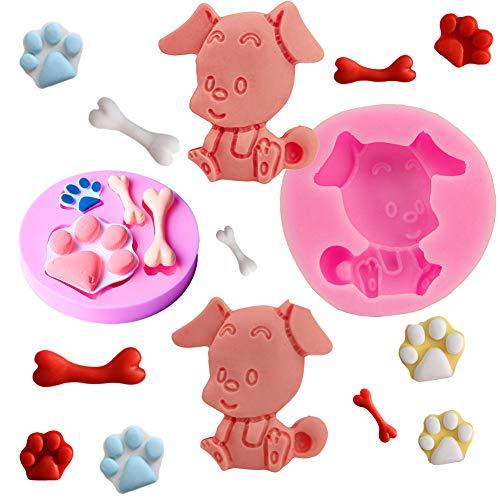 mciskin Moldes de silicona para fondant con diseño de huella de perro...