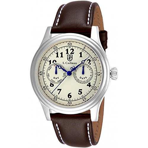 S Coifman SC0275 Mens Brown Leather Strap Watch