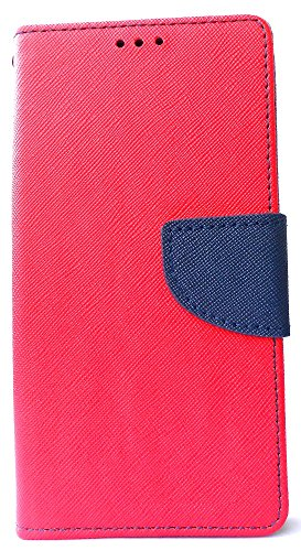 UNIVERSAL 5 inches MERCURY WALLET FANCY FLIP DIARY CASE COVER COMPATIBLE withMicromax Canvas Spark 2 Plus (RED)