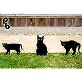 Lot de 3épouvantails de chat effrayant avec des yeux réalistes par PestBye