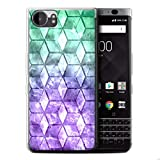 Stuff4 Gel TPU Hülle / Case für Blackberry KeyOne/BBB100 / Violett Muster / Bunte Würfel Kollektion