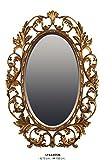 Casa Padrino Luxus Barock Wandspiegel Oval Gold 108 x 73 cm - Massiv und Schwer - Goldener Spiegel