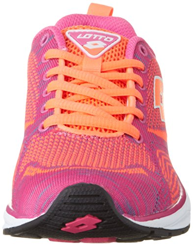 Lotto Damen Superlight Net W Sneakers Rosa (pnk Mag / Red Fl)