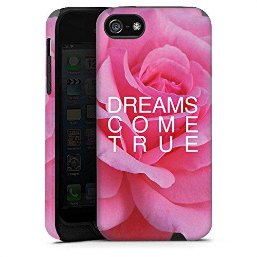 Apple iPhone X Silikon Hülle Case Schutzhülle Träume Blume Sprüche Tough Case matt