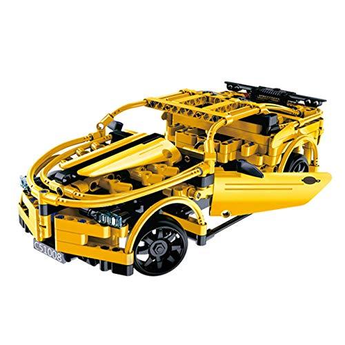 steuertes DIY Steckbausatz Konstruktion Auto Sportwagen Car aus Bausteinen zum Selber Bauen Basteln mit 2.4GHz Fernbedienung ()