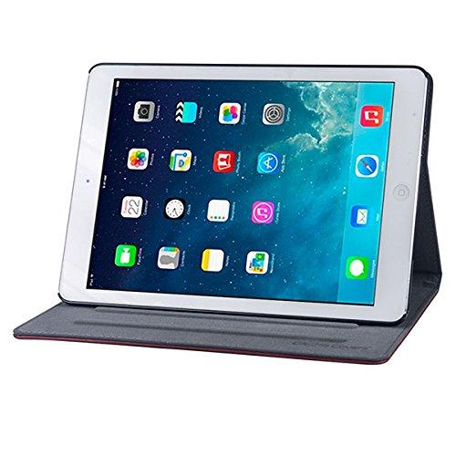 Gecko Apple iPad Air Hülle Easy-Click - Braun - Multifunktionelle Tasche bietet Schutz und Multimedia-Komfort/Cover mit Präsentationsfunktion - Tablethülle geeignet für iPad Air A1474 / A1475 / A7177 - Multimedia-tasche