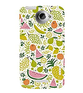 Fruits Clipart Design 3D Hard Polycarbonate Designer Back Case Cover for HTC One X :: HTC One X+ :: HTC One X Plus :: HTC One XT