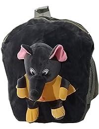 Pari Toys Black Color School Bag For Kids, Travelling Bag, Picnic Bag, Carry Bag With Soft Material 15 Inch