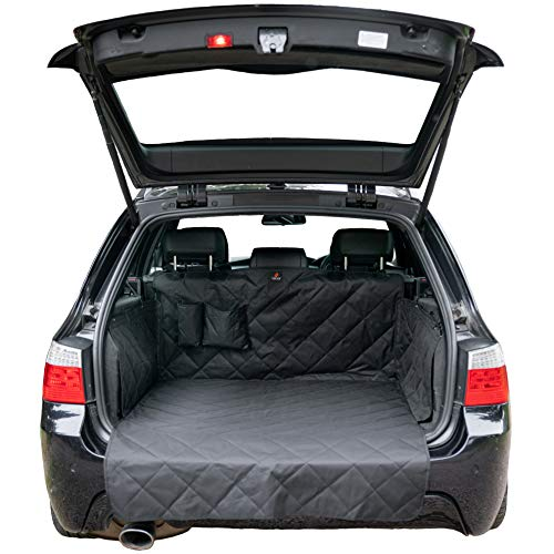 Foxxer Premium 4 Layer Non Slip Car Boot Liner For Dogs With Bumper Flap Car Boot Protector For Dog Universal Waterproof Car Boot Cover Car