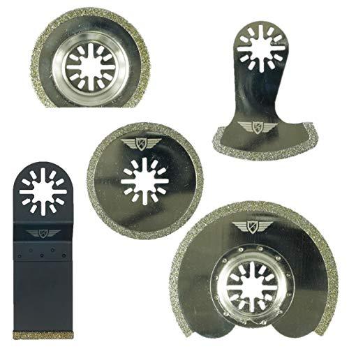 5 x TopsTools UNKD5 diamante lechada cuchillas Bosch