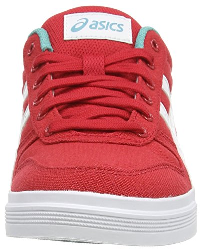 Asics Aaron, Unisex-Erwachsene Sneakers Rot (ot Red/white 2301)