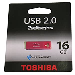 Toshiba THNU16ENSRE(BL5 16GB TransMemory Mini USB 2.0 Flash Drive - Red Rose