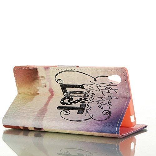 Custodia In Pelle Per iphone 5/5S, iphone 5/5S custodia portafoglio, Ukayfe Per iphone 5/5S Elegante borsa in pelle Custodia Case Cover Protezione chiusura ventosa Con Stilo Penna -Occhiali gattino serata e lost