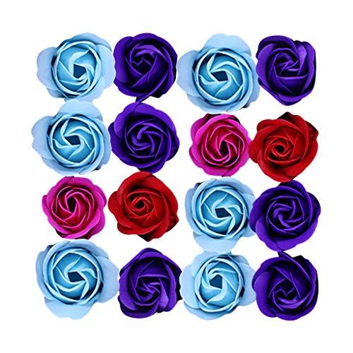 erthome Duftendes Bad Körper Blütenblatt Rose Blume Seife Hochzeitsdekoration Geschenk Beste 16pc (Rosa)