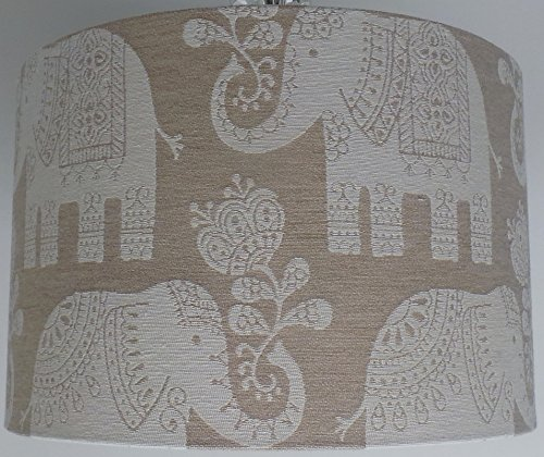8-amy-elephant-ethnic-beige-lampshade-table-shade-new-