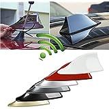 Zhuotop Coche techo coche superior AM/FM Radio antena aleta de tiburón antena Universal de