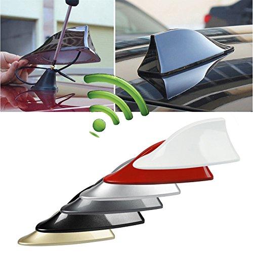 Zhuotop Coche techo coche superior AM/FM Radio antena aleta de tiburón antena Universal de señal