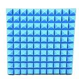 16 Stücke Kombination Pyramide Akustikschaumstoff Schallschutzisolierung Studio Fliesen Mit 50 x 50 x 5 cm,Schaum Dämmplatte Schalldämmung Schallabsorption Schlafzimmer Wohnzimmer Wanddekoration Pyra