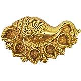 Metaldecor Brass Metal Conch Shape Oil Lamp Deepak