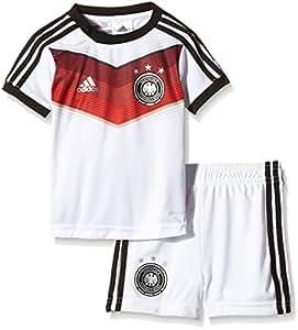 adidas Kinder Trainingsshirt und shorts DFB Babykit Away WM, Weiß / Schwarz, 68, G75067