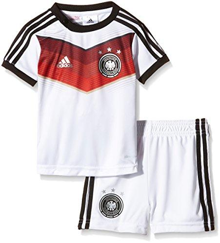 adidas Kinder Trainingsshirt und shorts DFB Babykit Away WM, Weiß / Schwarz, 74, G75067