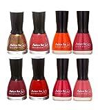 Fashion Bar Nail Polish Combo in Shimmer Brown , Mauvish Pink , Orange ,Neon Pink , Redish , Cherry Pink, Pink