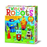 Wind Up Robots - Boy Boys Child Children Kids - Arts & Crafts Activity Set - Latest Birthday Gift Present Fun Games & Toys Idea Age 5+