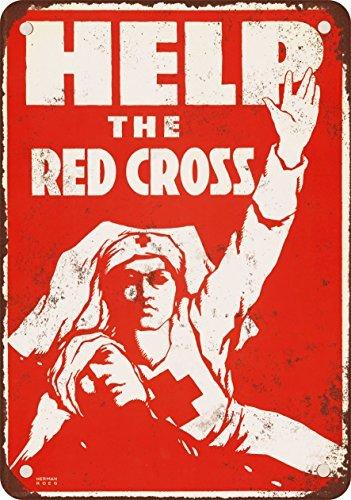 1917-aiutare-la-croce-rossa-stile-vintage-riproduzione-in-metallo-segni-305-x-406-cm
