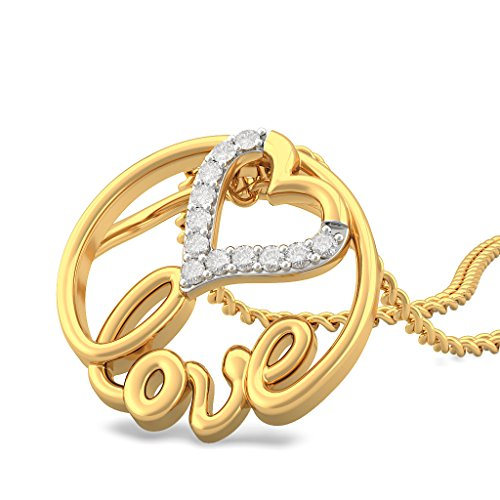BlueStone 18k Yellow Gold and Diamond Pendant