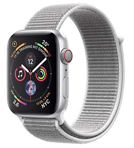 AppleWatch Series4 (GPS + Cellular) 40mm Aluminiumgehäuse, Silber, mit SportLoop, Muschel