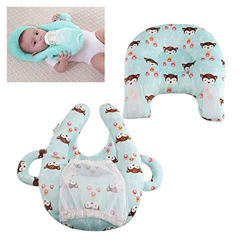 Xincheng Almohadas de lactancia para bebés, almohada de lactancia materna autoalimentante para bebé...