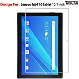#8: Taslar Arc Edge Tempered Glass Screen Scratch Guard Protector for Lenovo Tab4 10 Tablet 10.1 inch,(Clear)