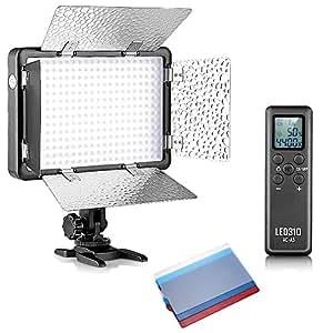 Bestlight LED310 308 Pièces LED Barndoor lumière Dimmable Vidéo avec 16CH Télécommande sans Fil pour Canon, Nikon, Pentax, Panasonic, Sony, Samsung, Olympus et autres Appareils Photo Reflex Numérique