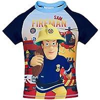 Fireman Sam Boys Swim Shirt - Blue