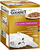 Gourmet Gold Cat Food Double Delicacies, 12 x 85 g - Pack of 8