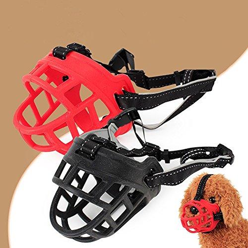 (Mundmaske NimbleMinLki, Weiches Silikon Maulkorb Anti-Bite Verstellbarer Schutz Welpen Mundmaske Pet Supply – Schwarz 3)