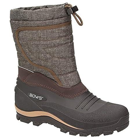BOWS® -BENTE- Herren Damen Kinder Unisex Schnee Stiefel Winter Boots Schlupf Schuhe gefüttert wasserdicht wasserabweisende, Schuhgröße:39,