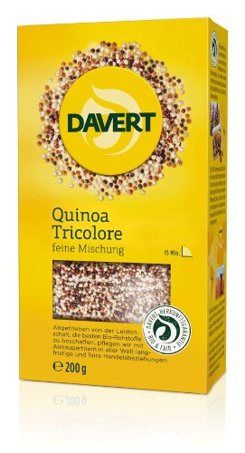Davert Quinoa Tricolore, 4er Pack (4 x 200 g) – Bio