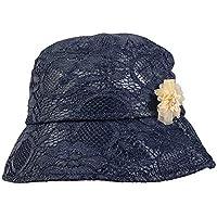 JK Home - Sombrero de encaje para mujer, protección UV, verano, playa, para deportes al aire libre, Para toda la temporada, Mujer, color #A Negro, tamaño talla única