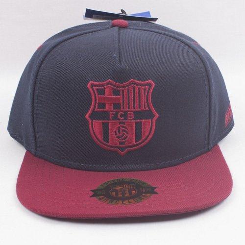 GORRA OFICIAL FC BARCELONA VISERA PLANA BLAU RAP